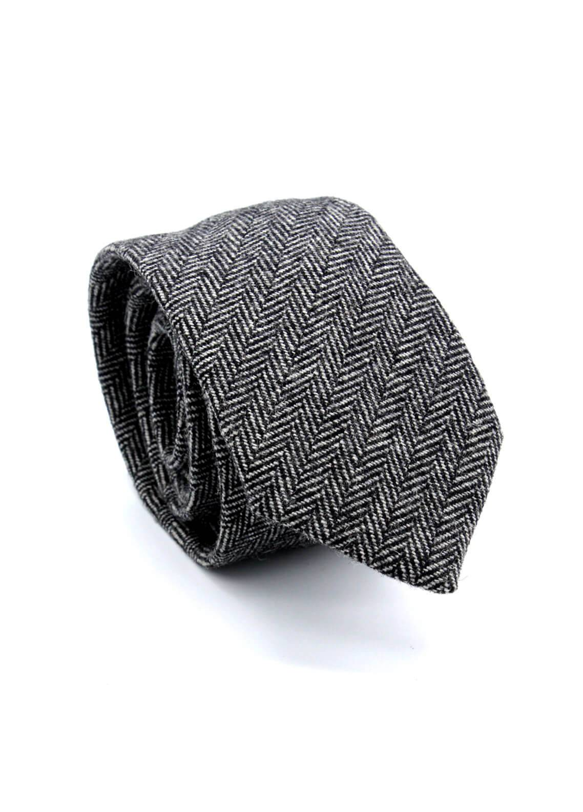 Skangen Narrow Wool Neck Tie Neck Tie SKTI-W-003 -