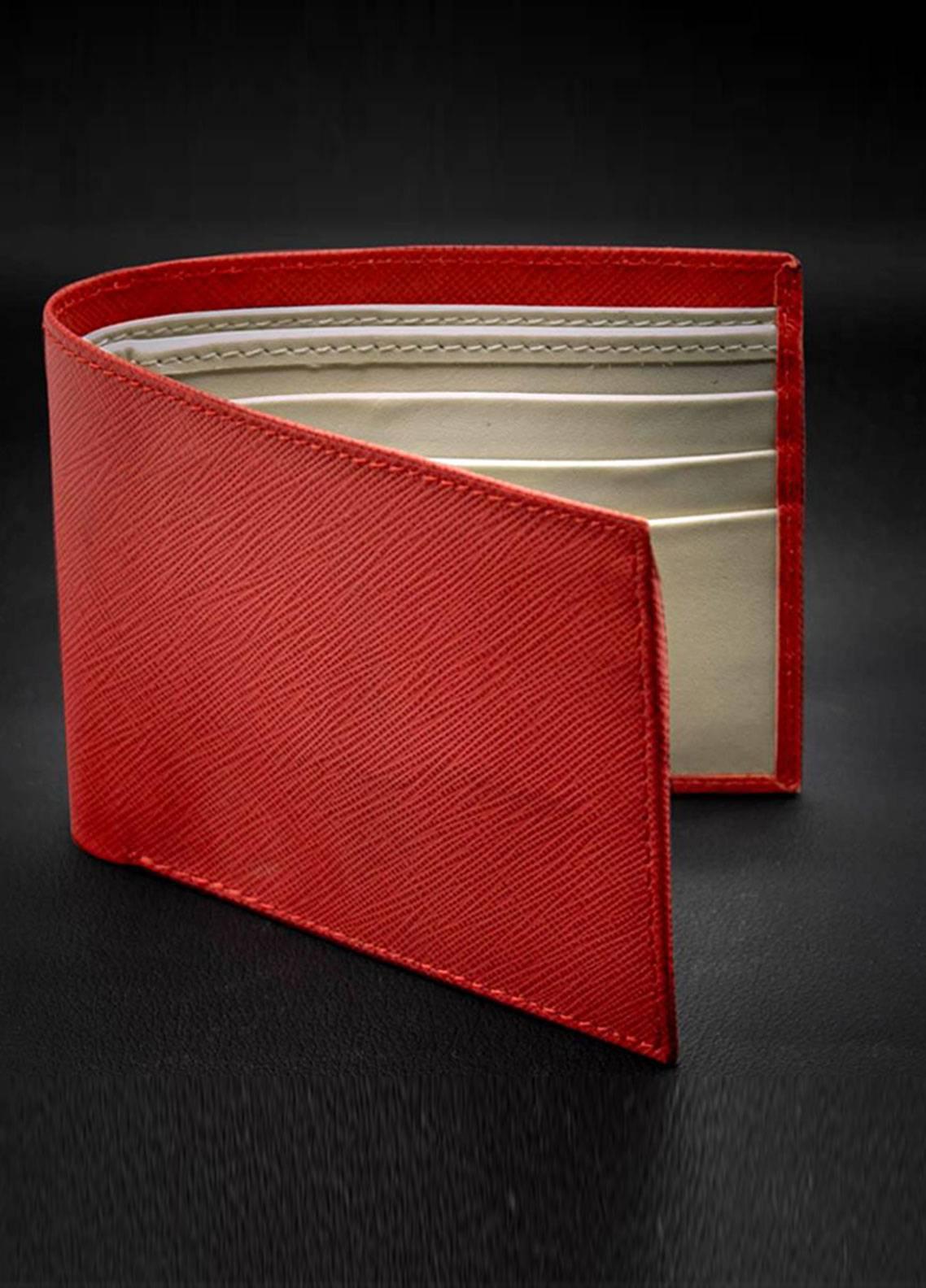 Skangen Vertical Premium Cow Leather Lines Exterior Wallets SKWT-1004 - Men's Accessories