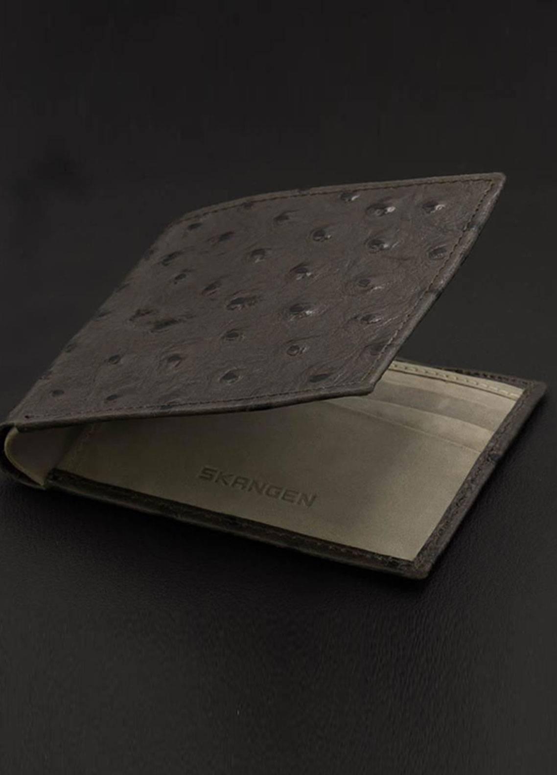 Skangen Ostrich Premium Cow Leather Textured Wallets SKWT-1011 - Men's Accessories