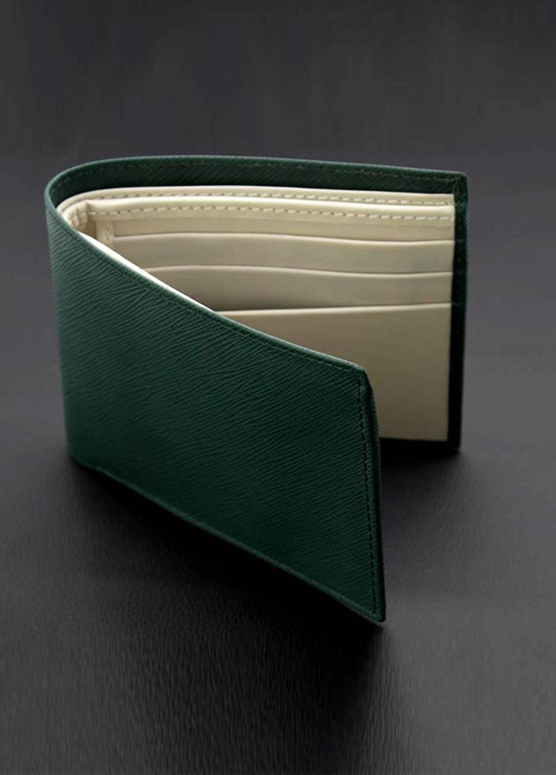Skangen Vertical Premium Cow Leather Lined Texture Wallets SKWT-1012 - Men's Accessories