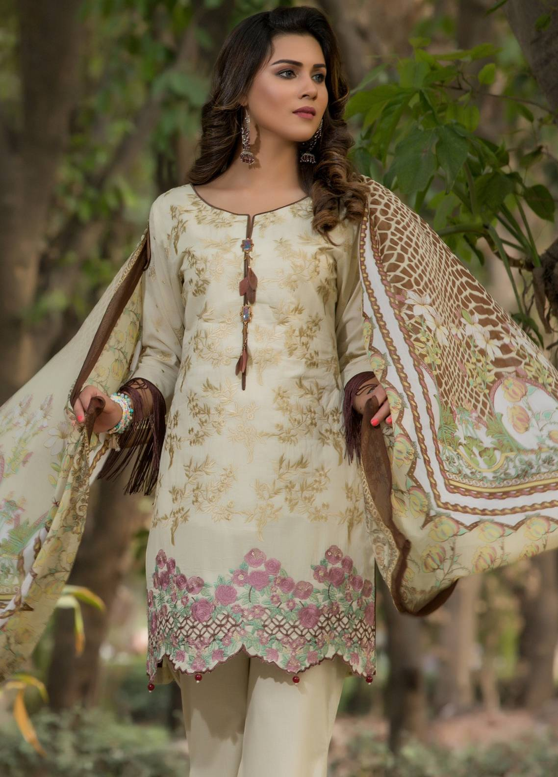 90780f1bab Sahil by ZS Textiles Embroidered Lawn Unstitched 3 Piece Suit SL18-L5 7A - Eid  Collection