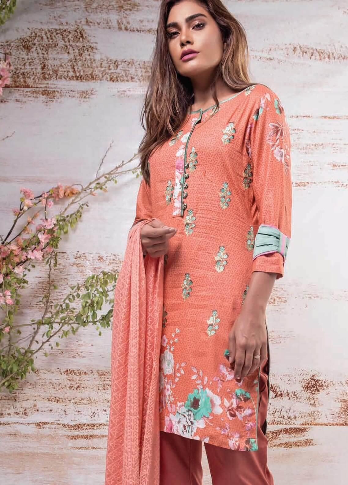 cec9d2438d Sahil By ZS Textiles Embroidered Lawn Unstitched 3 Piece Suit SL18-L7 2A - Mid  Summer Collection