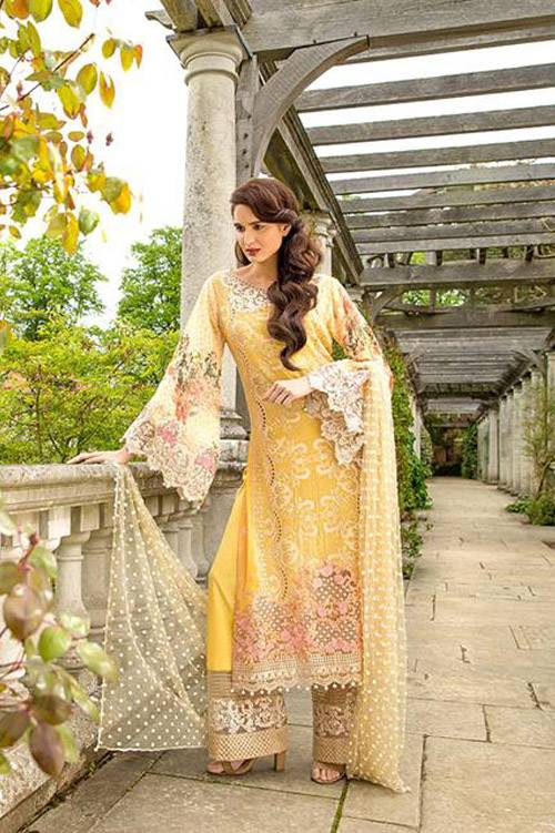 Sobia Nazir Embroidered Chiffon Unstitched 3 Piece Suit SN17E 01