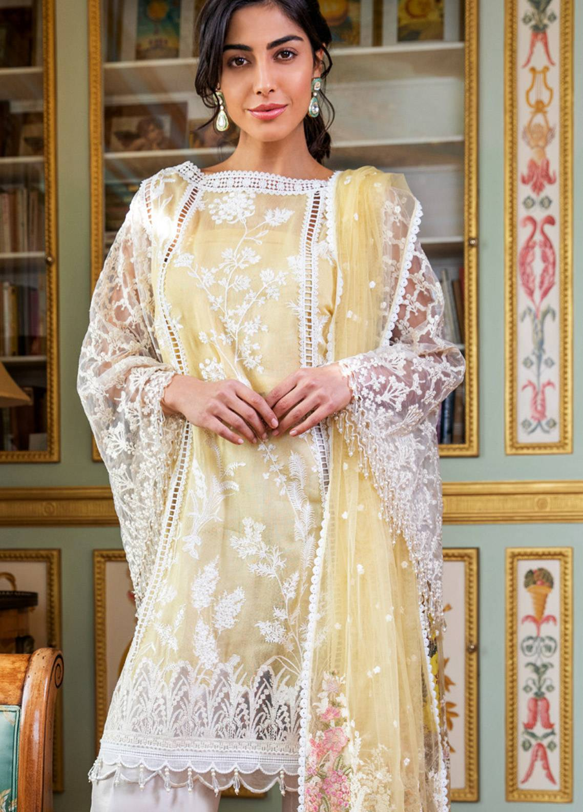 f61a862eff Sobia Nazir Embroidered Cotton Net Unstitched 3 Piece Suit SN19E 6A - Eid  Collection
