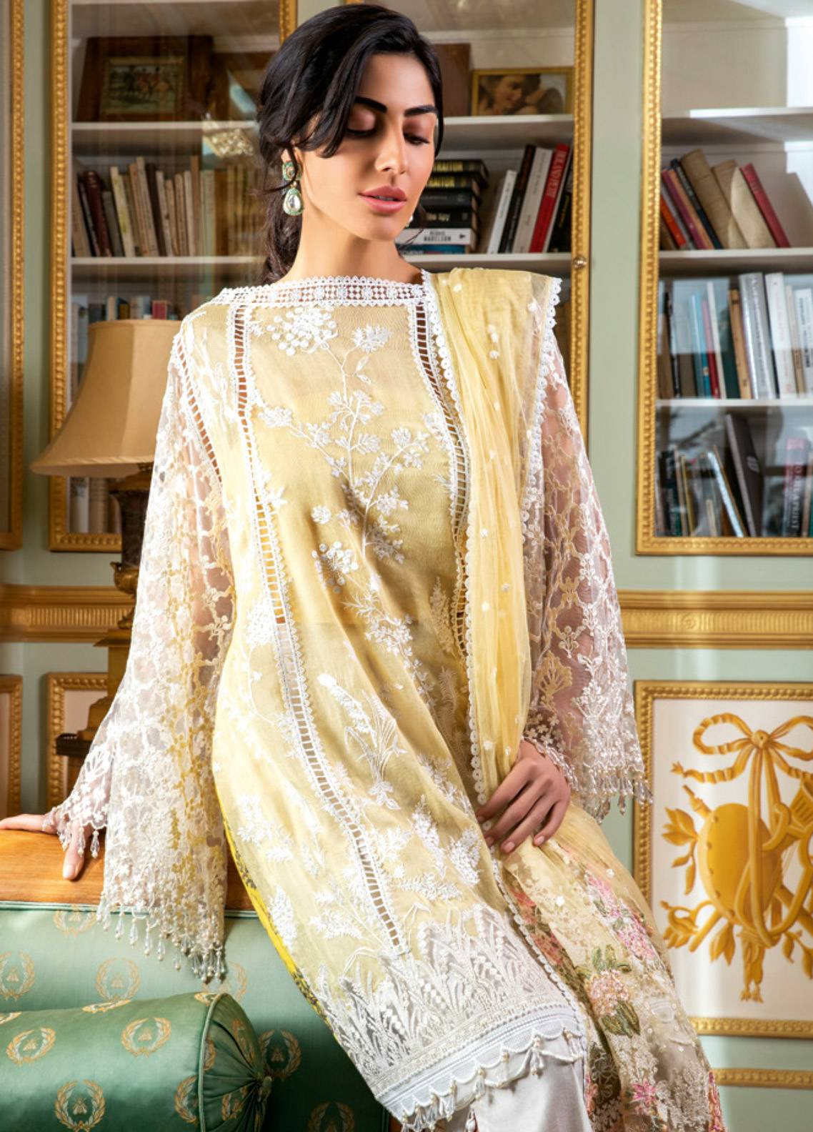 b6e12d7e74 Sobia Nazir Embroidered Cotton Net Unstitched 3 Piece Suit SN19E 6A ...