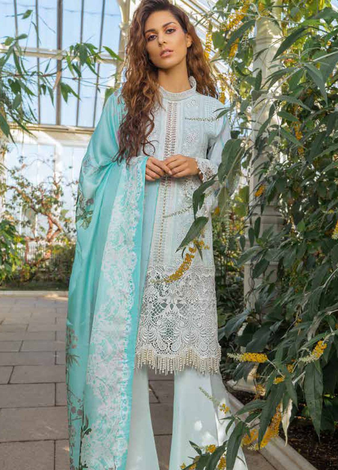 Sobia Nazir Embroidered Lawn Unstitched 3 Piece Suit SN19L 10A - Spring / Summer Collection