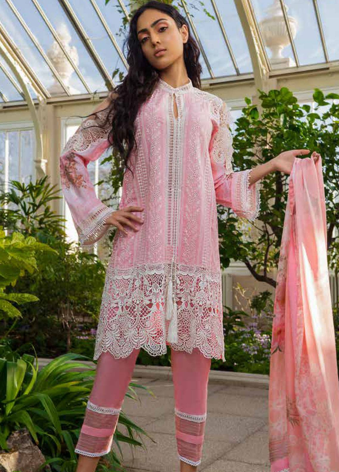 041addbc33 Sobia Nazir Embroidered Lawn Unstitched 3 Piece Suit SN19L 10B - Spring / Summer  Collection