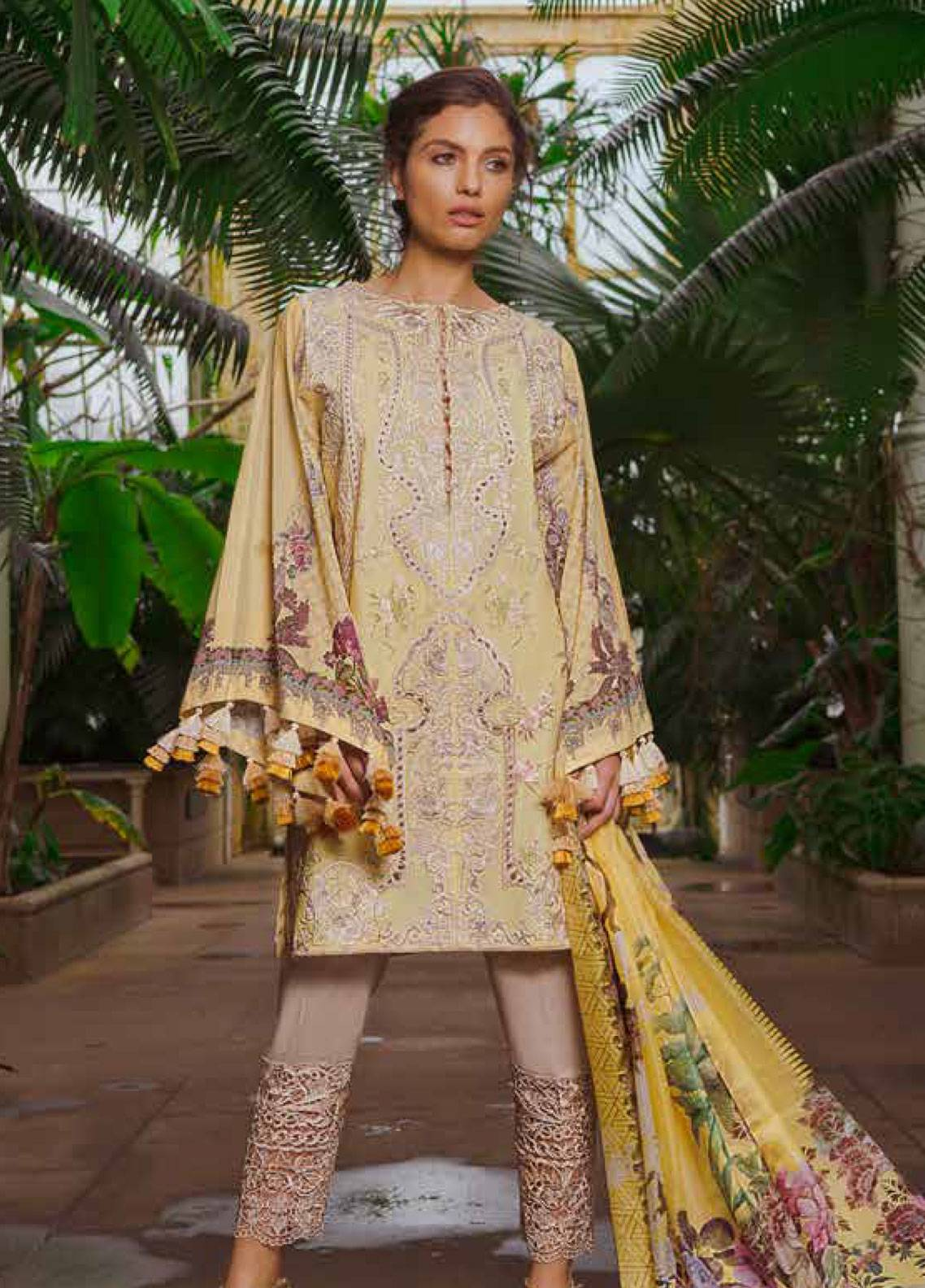 5b382cf7a8 Sobia Nazir Embroidered Lawn Unstitched 3 Piece Suit SN19L 12B - Spring / Summer  Collection