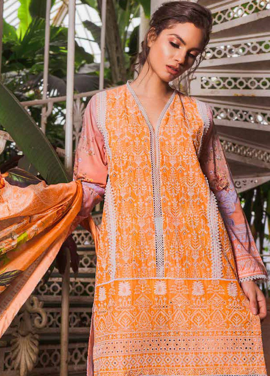 Sobia Nazir Embroidered Lawn Unstitched 3 Piece Suit SN19L 14B - Spring / Summer Collection