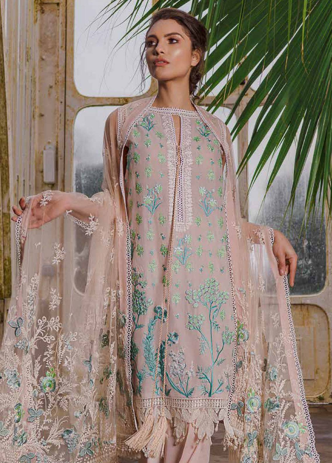 9e485ebb1f Sobia Nazir Embroidered Lawn Unstitched 3 Piece Suit SN19L 2A - Spring / Summer  Collection