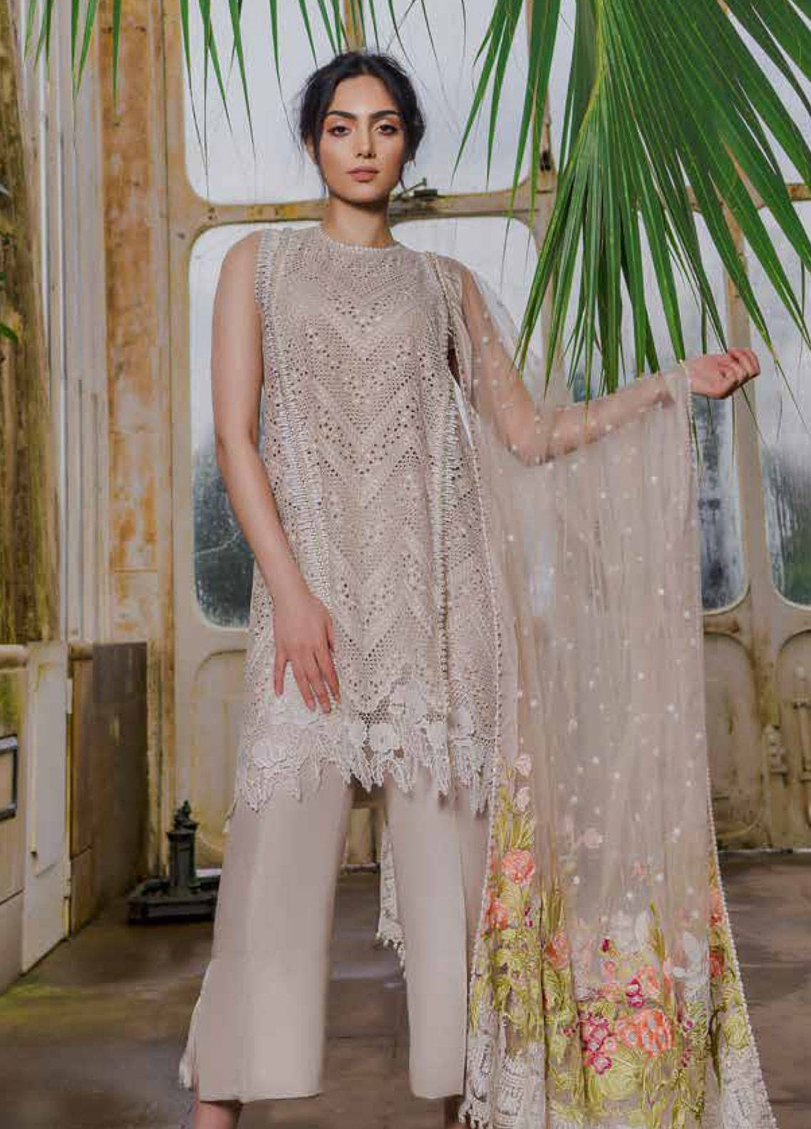 98ded350c3 Sobia Nazir Embroidered Lawn Unstitched 3 Piece Suit SN19L 3B - Spring / Summer  Collection