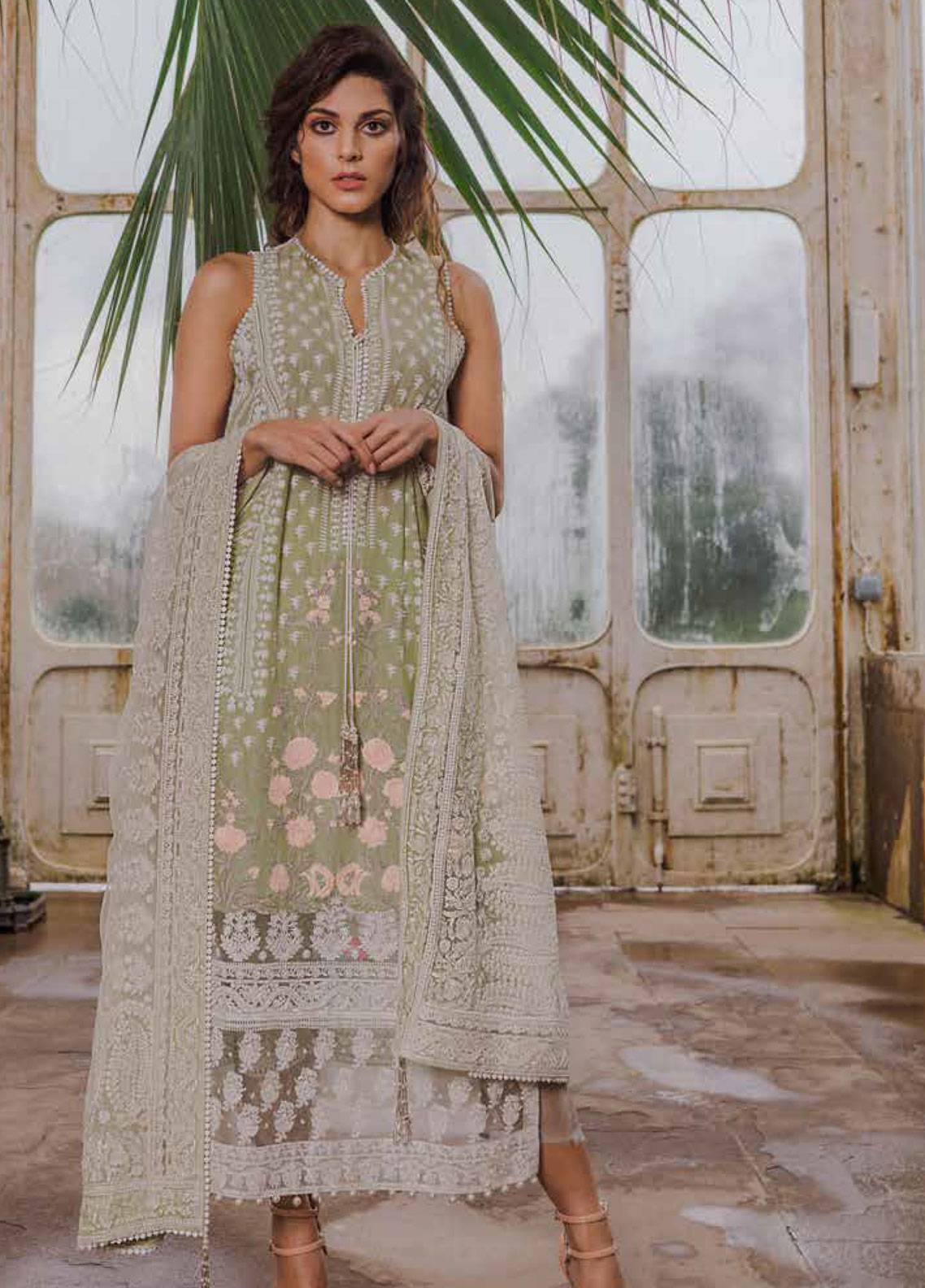 5e40486006 Sobia Nazir Embroidered Lawn Unstitched 3 Piece Suit SN19L 4B - Spring / Summer  Collection