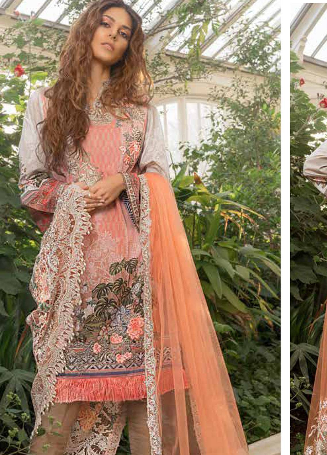 83395f09ce Sobia Nazir Embroidered Lawn Unstitched 3 Piece Suit SN19L 5A - Spring / Summer  Collection