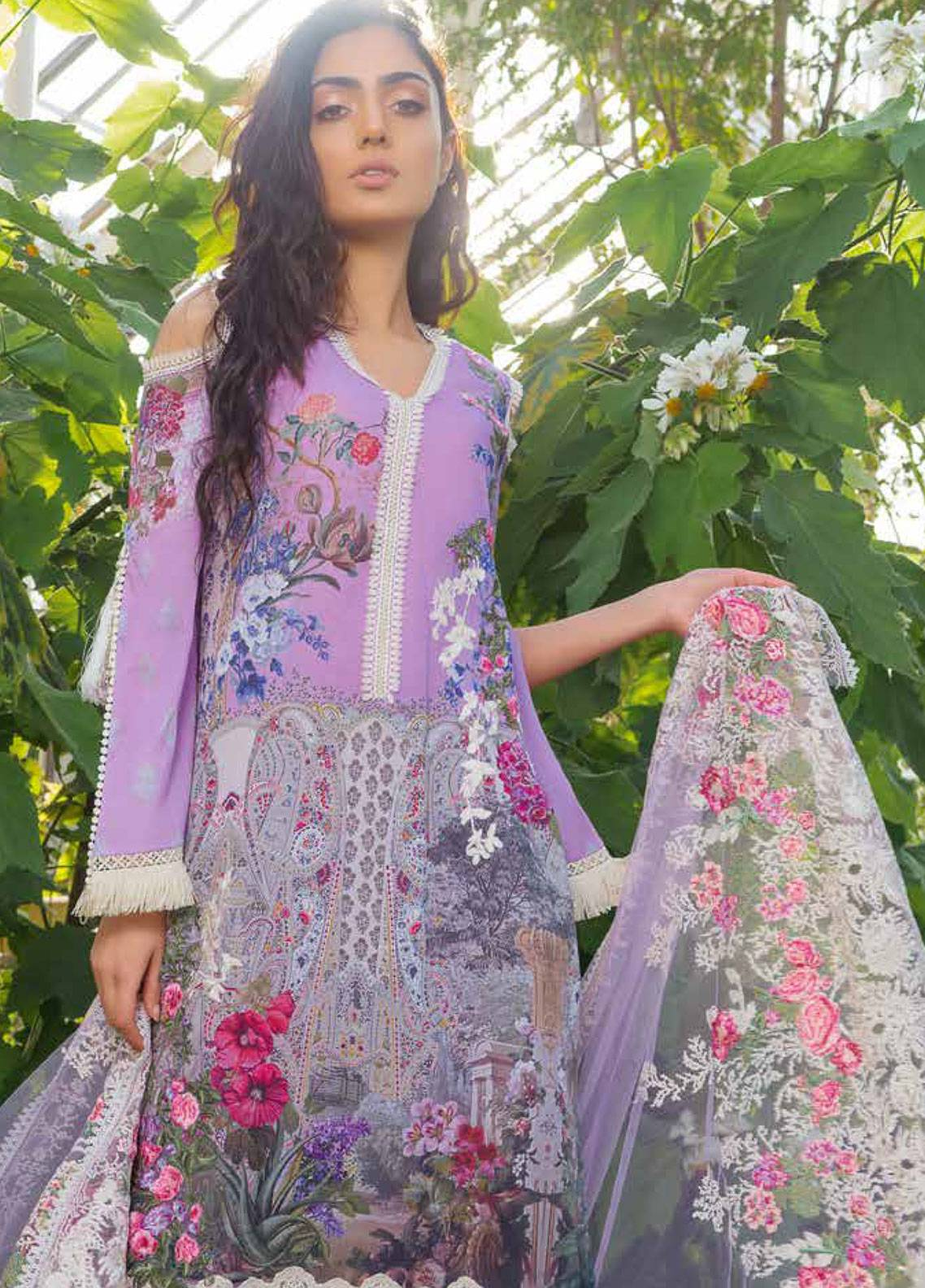 Sobia Nazir Embroidered Lawn Unstitched 3 Piece Suit SN19L 7A - Spring / Summer Collection