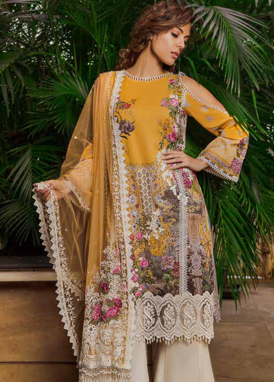 7bddddcbe4 Sobia Nazir Embroidered Lawn Unstitched 3 Piece Suit SN19L 7B - Spring / Summer  Collection