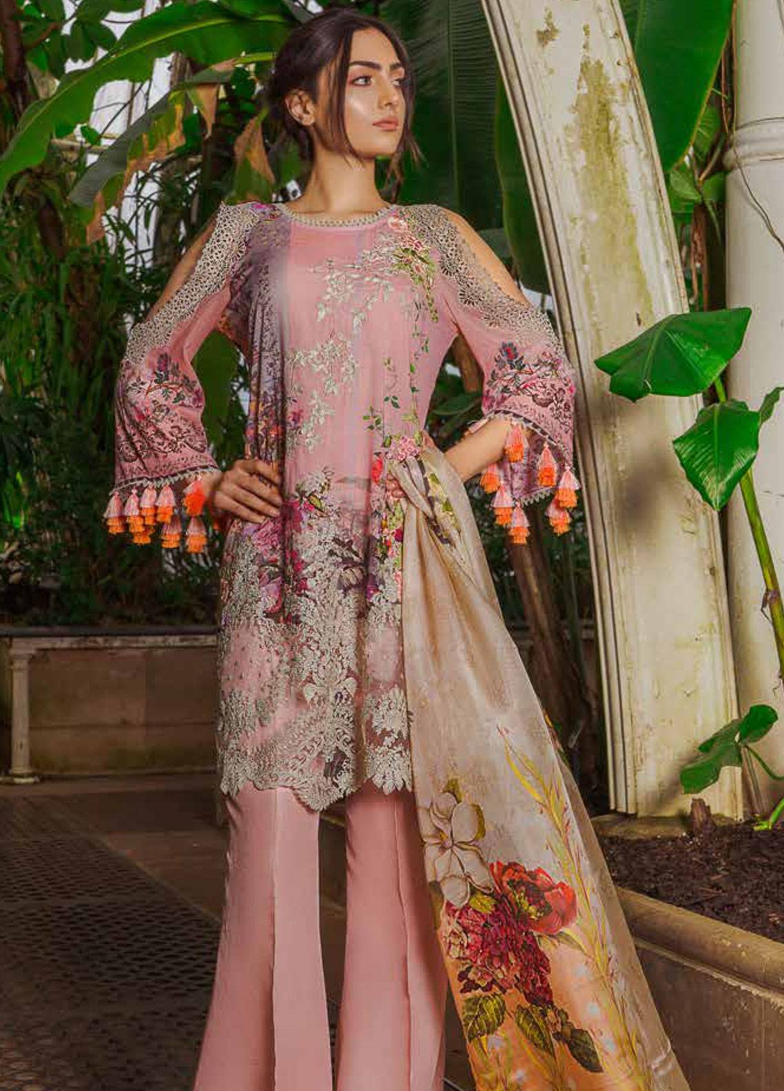 54af975290 Sobia Nazir Embroidered Lawn Unstitched 3 Piece Suit SN19L 9B - Spring / Summer  Collection