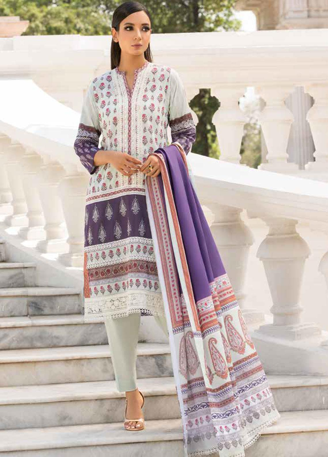 Sobia Nazir Embroidered Lawn Unstitched 3 Piece Suit SN19V 10A - Festive Collection