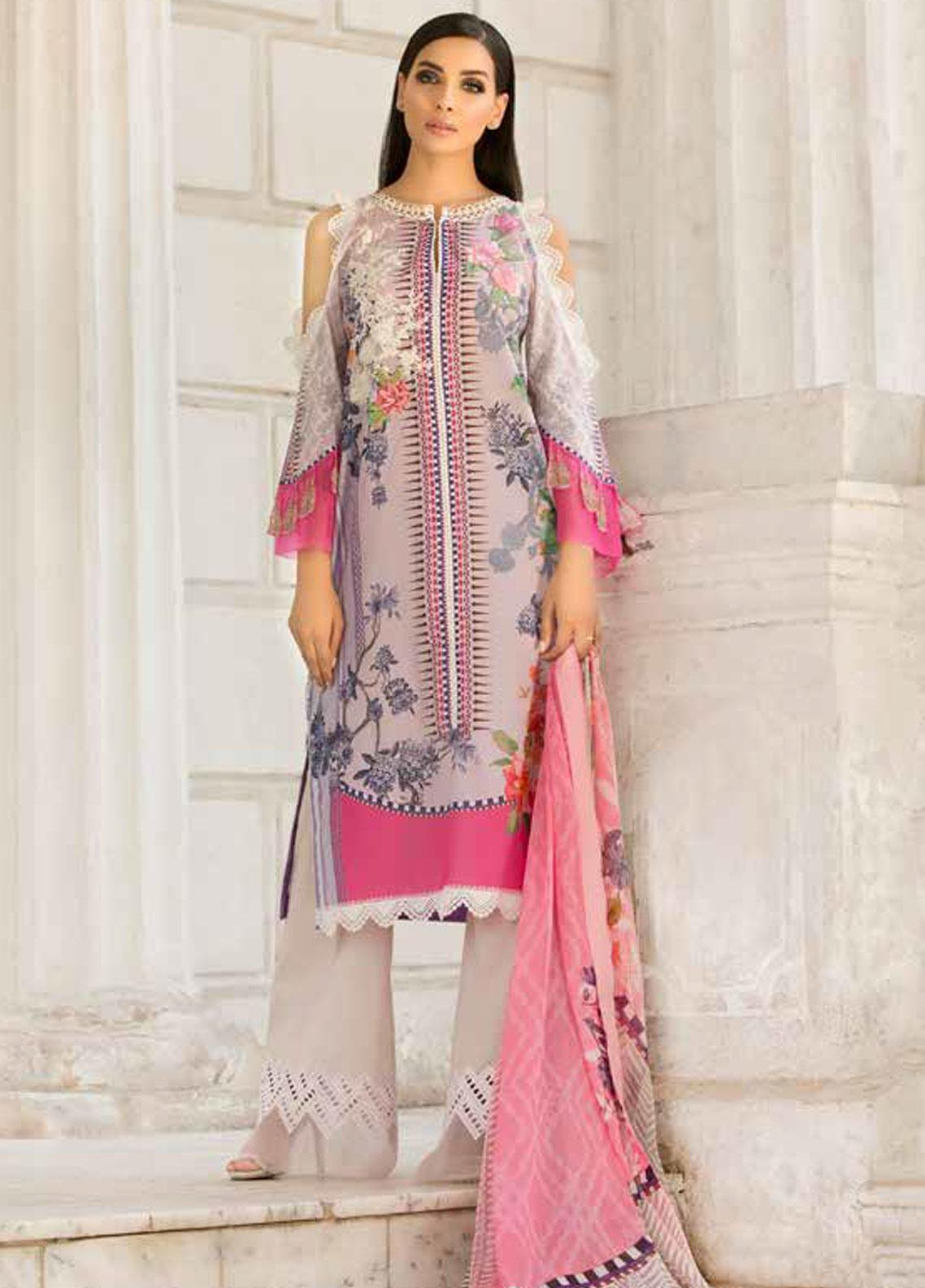 Sobia Nazir Embroidered Lawn Unstitched 3 Piece Suit SN19V 1B - Festive Collection