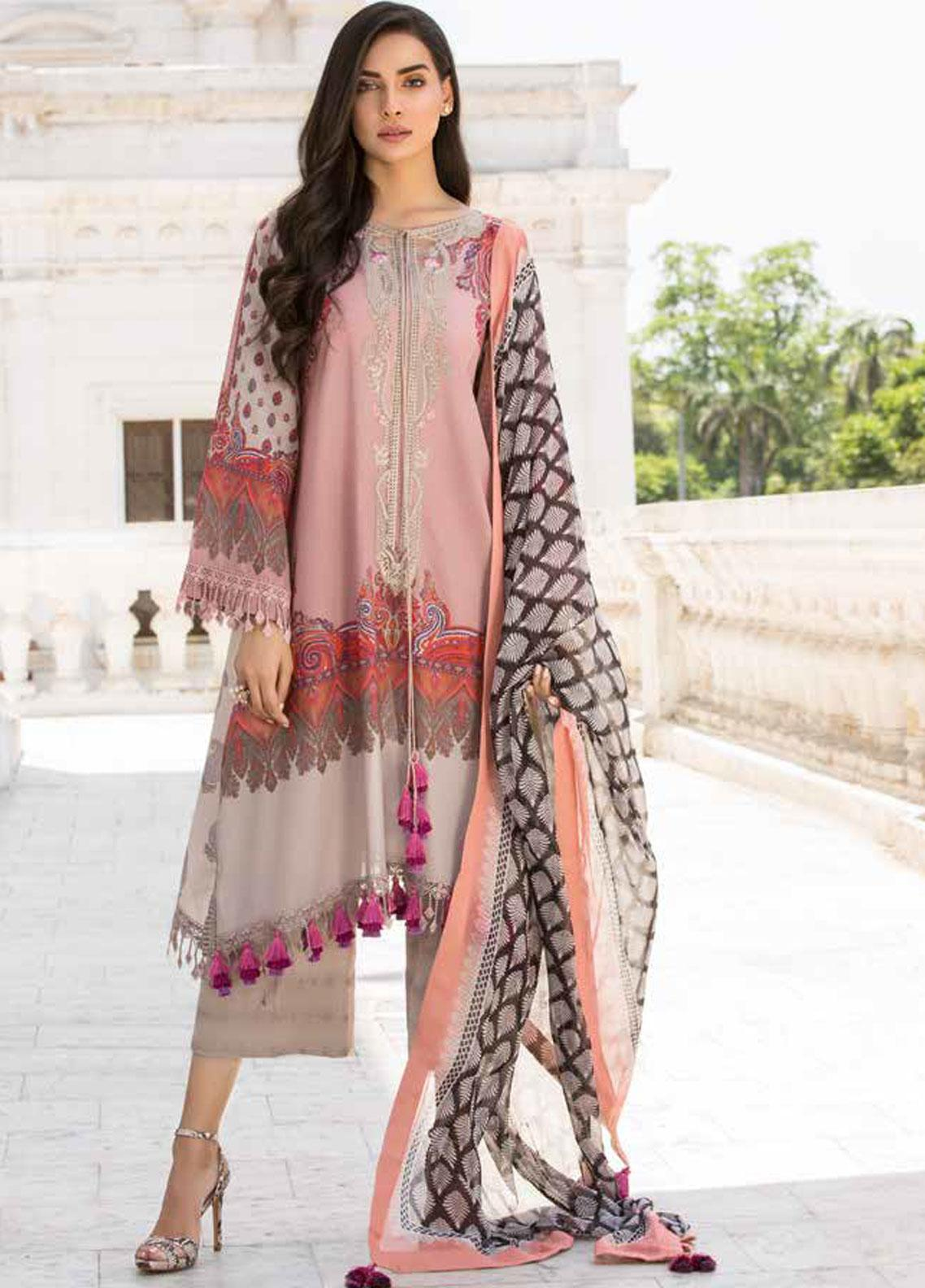 Sobia Nazir Embroidered Lawn Unstitched 3 Piece Suit SN19V 2A - Festive Collection