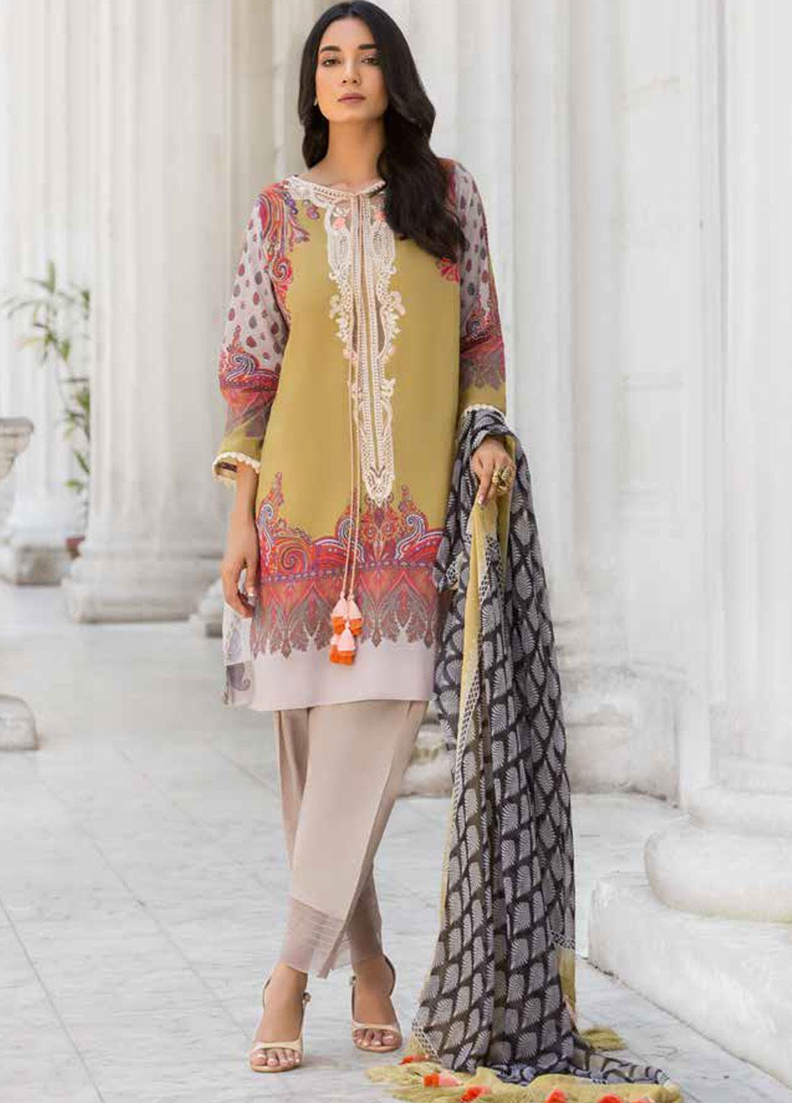 Sobia Nazir Embroidered Lawn Unstitched 3 Piece Suit SN19V 2B - Festive Collection