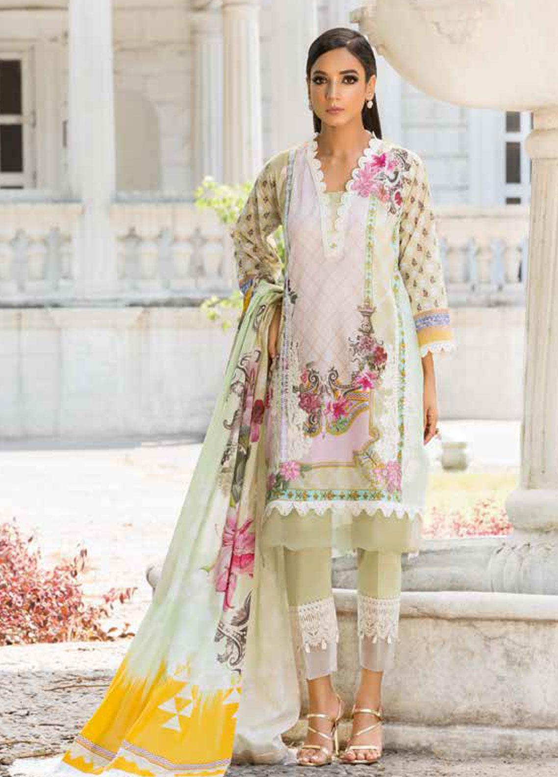 Sobia Nazir Embroidered Lawn Unstitched 3 Piece Suit SN19V 3A - Festive Collection
