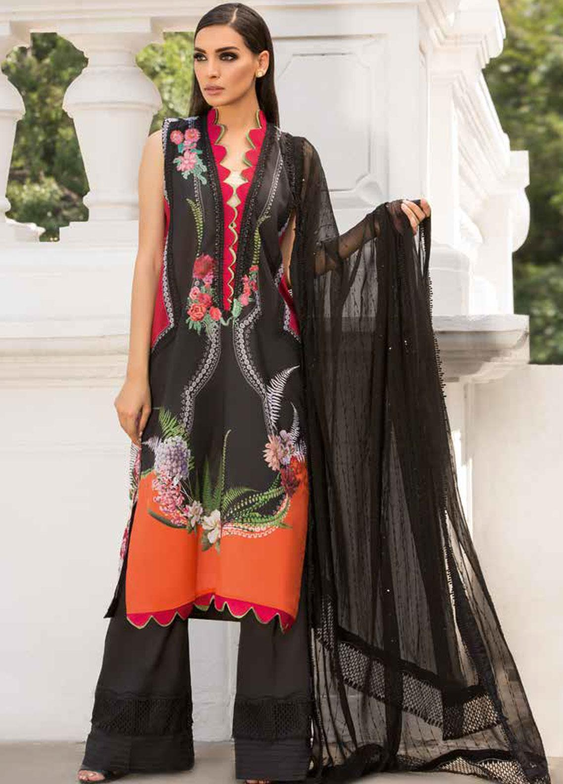 Sobia Nazir Embroidered Lawn Unstitched 3 Piece Suit SN19V 4A - Festive Collection