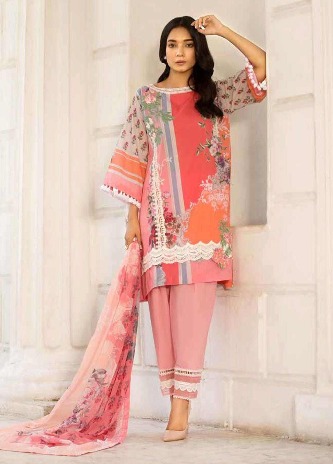 Sobia Nazir Embroidered Lawn Unstitched 3 Piece Suit SN19V 5A - Festive Collection