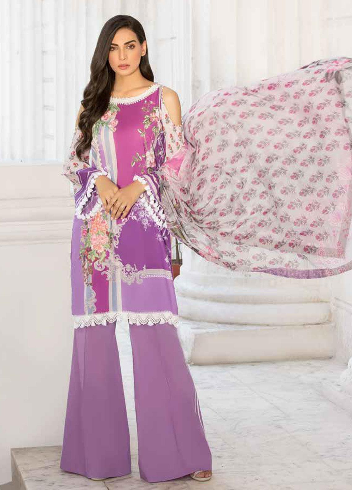 Sobia Nazir Embroidered Lawn Unstitched 3 Piece Suit SN19V 5B - Festive Collection