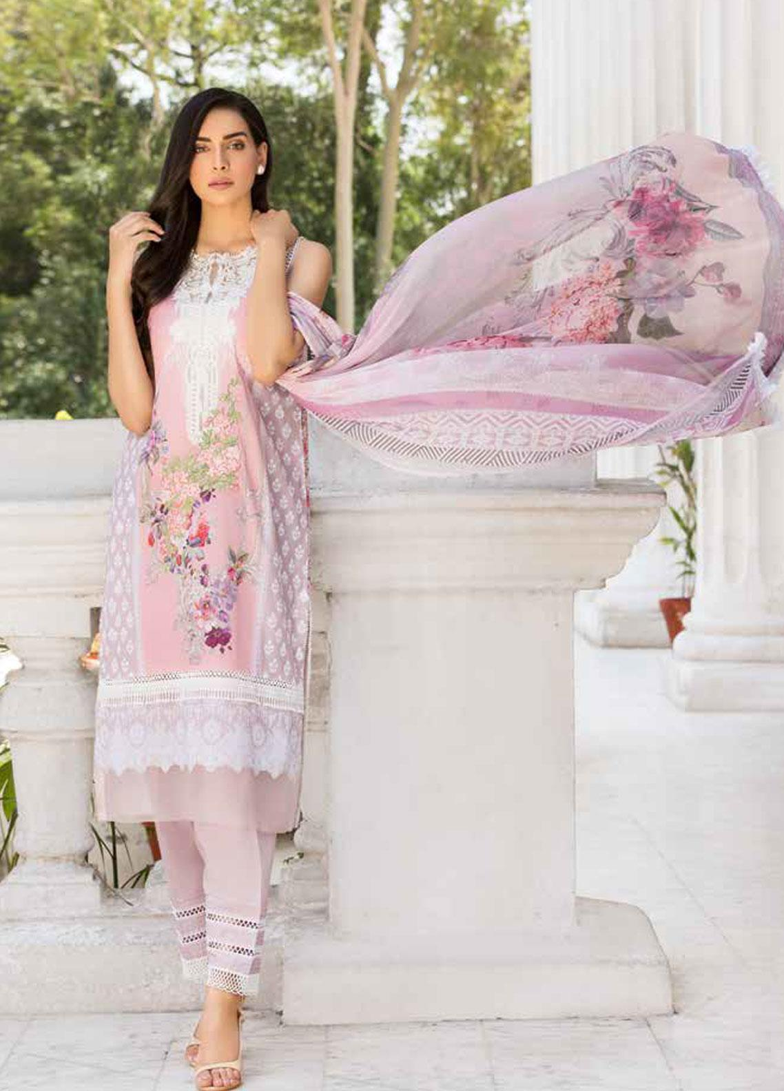 Sobia Nazir Embroidered Lawn Unstitched 3 Piece Suit SN19V 6A - Festive Collection