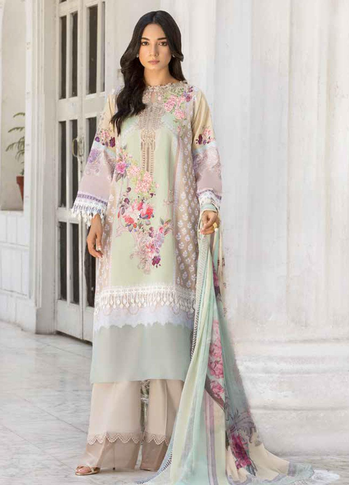 Sobia Nazir Embroidered Lawn Unstitched 3 Piece Suit SN19V 6B - Festive Collection