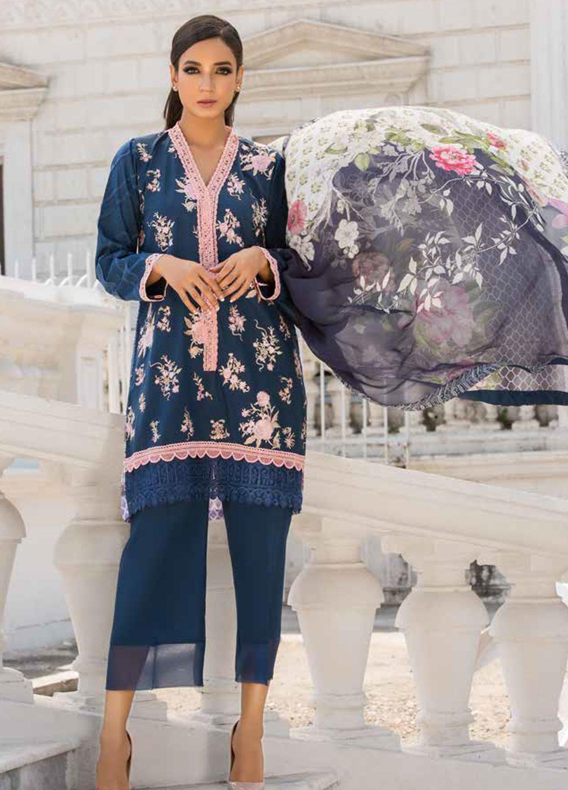 Sobia Nazir Embroidered Lawn Unstitched 3 Piece Suit SN19V 7A - Festive Collection