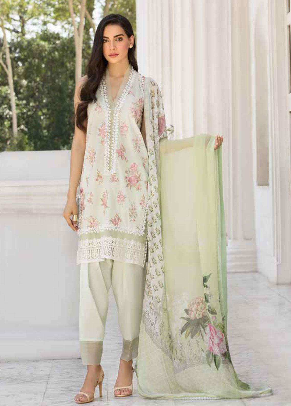 Sobia Nazir Embroidered Lawn Unstitched 3 Piece Suit SN19V 7B - Festive Collection