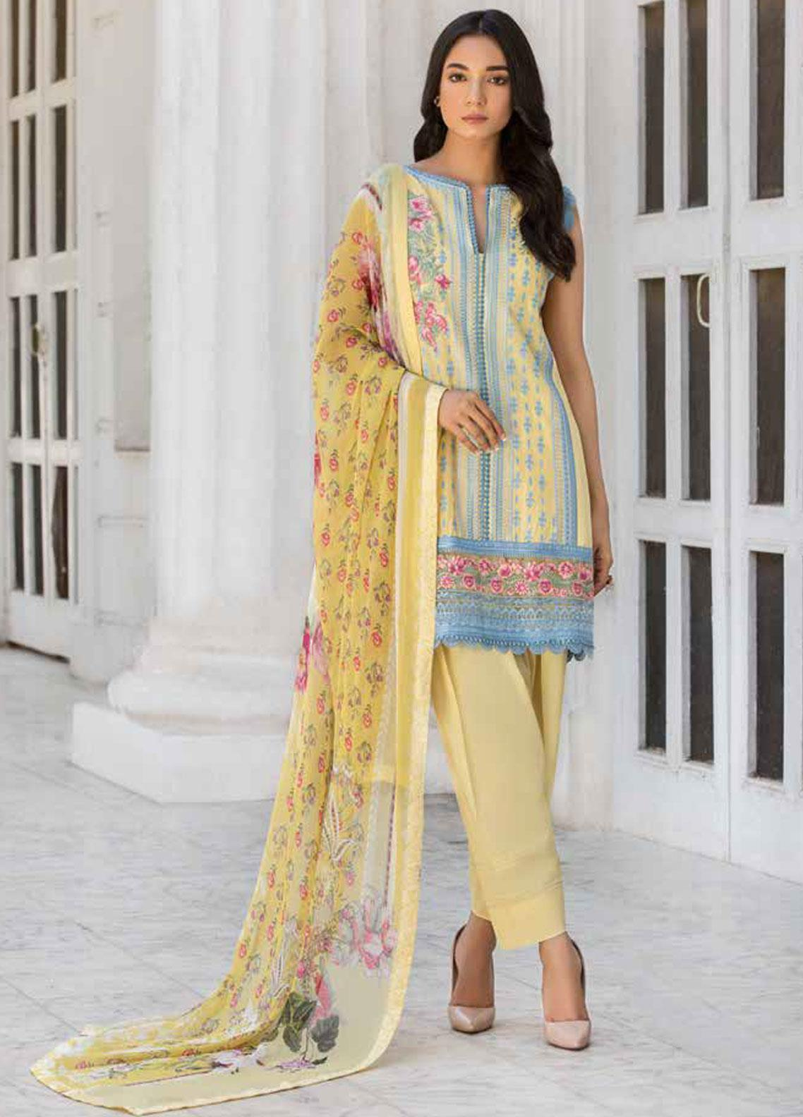 Sobia Nazir Embroidered Lawn Unstitched 3 Piece Suit SN19V 8A - Festive Collection