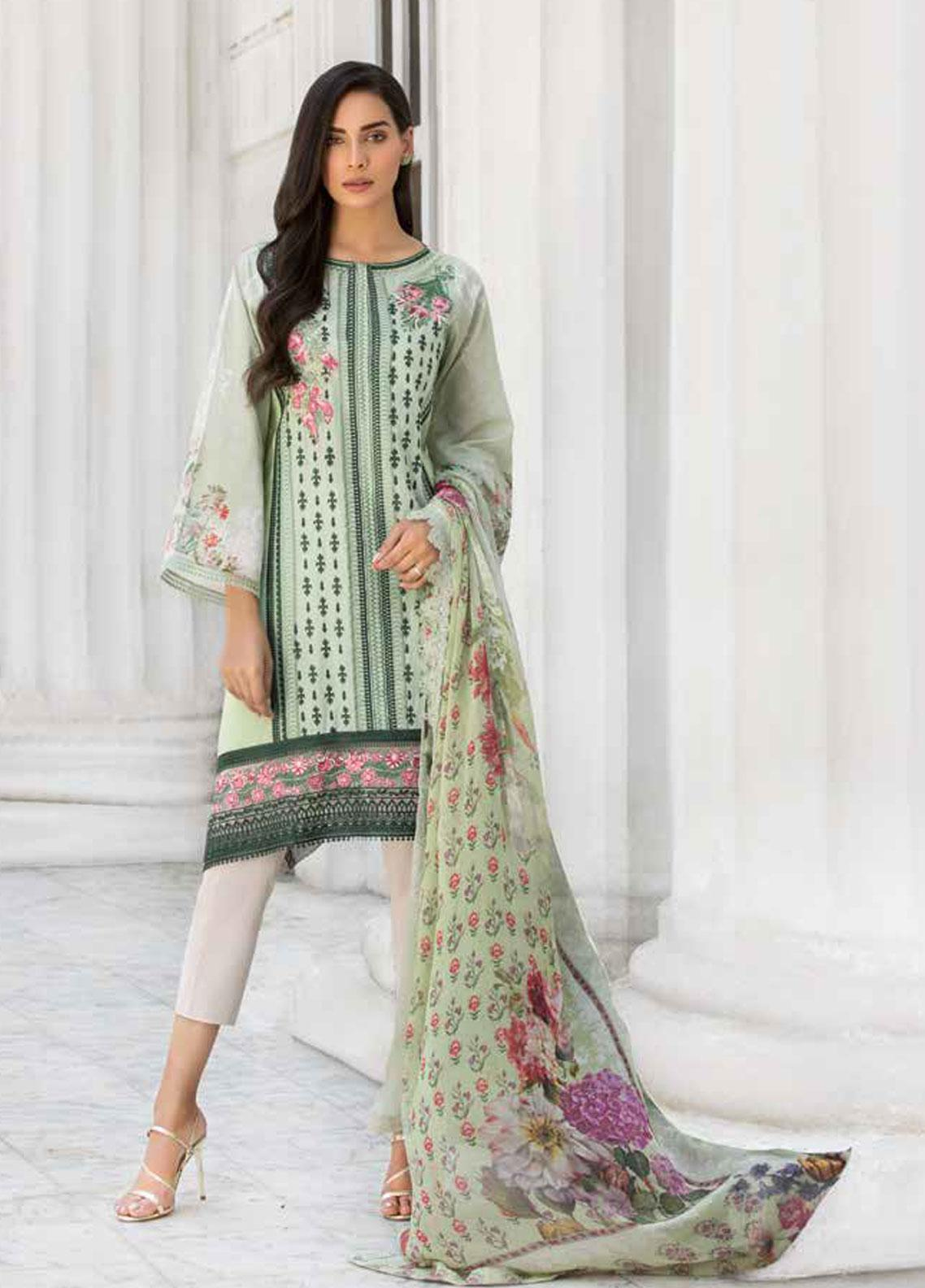 Sobia Nazir Embroidered Lawn Unstitched 3 Piece Suit SN19V 8B - Festive Collection