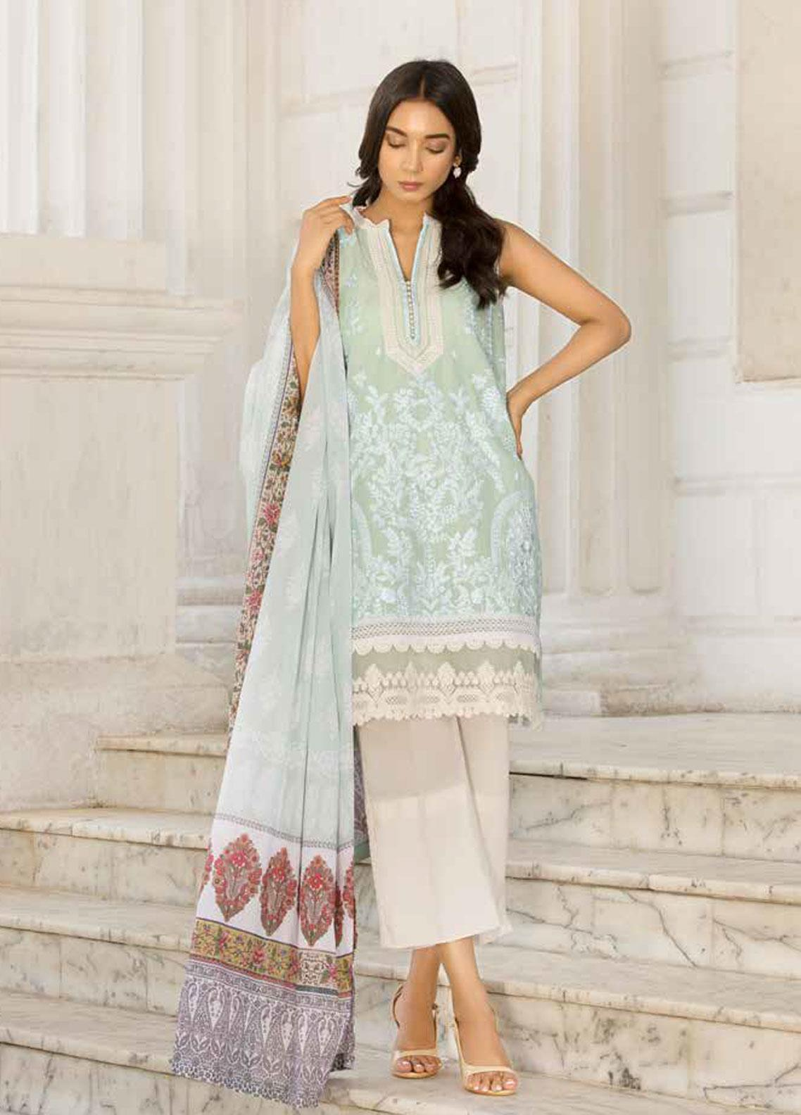 Sobia Nazir Embroidered Lawn Unstitched 3 Piece Suit SN19V 9A - Festive Collection