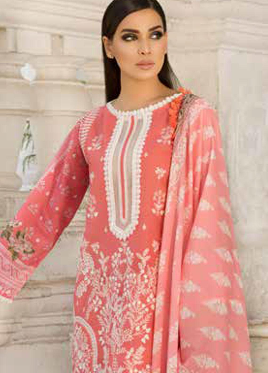 Sobia Nazir Embroidered Lawn Unstitched 3 Piece Suit SN19V 9B - Festive Collection
