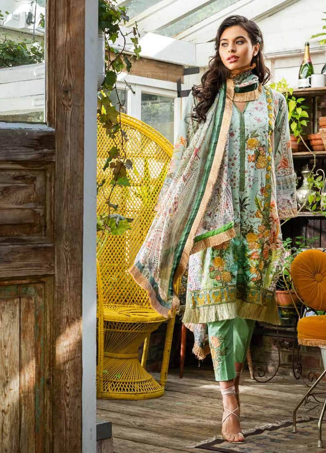 Sobia Nazir Embroidered Cotton Satin Unstitched 3 Piece Suit SN18W 1A - Winter Collection