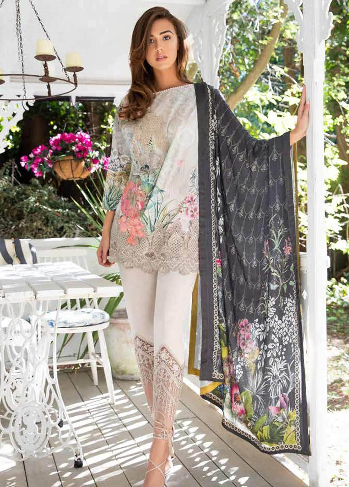 Sobia Nazir Embroidered Cotton Satin Unstitched 3 Piece Suit SN18W 4B - Winter Collection