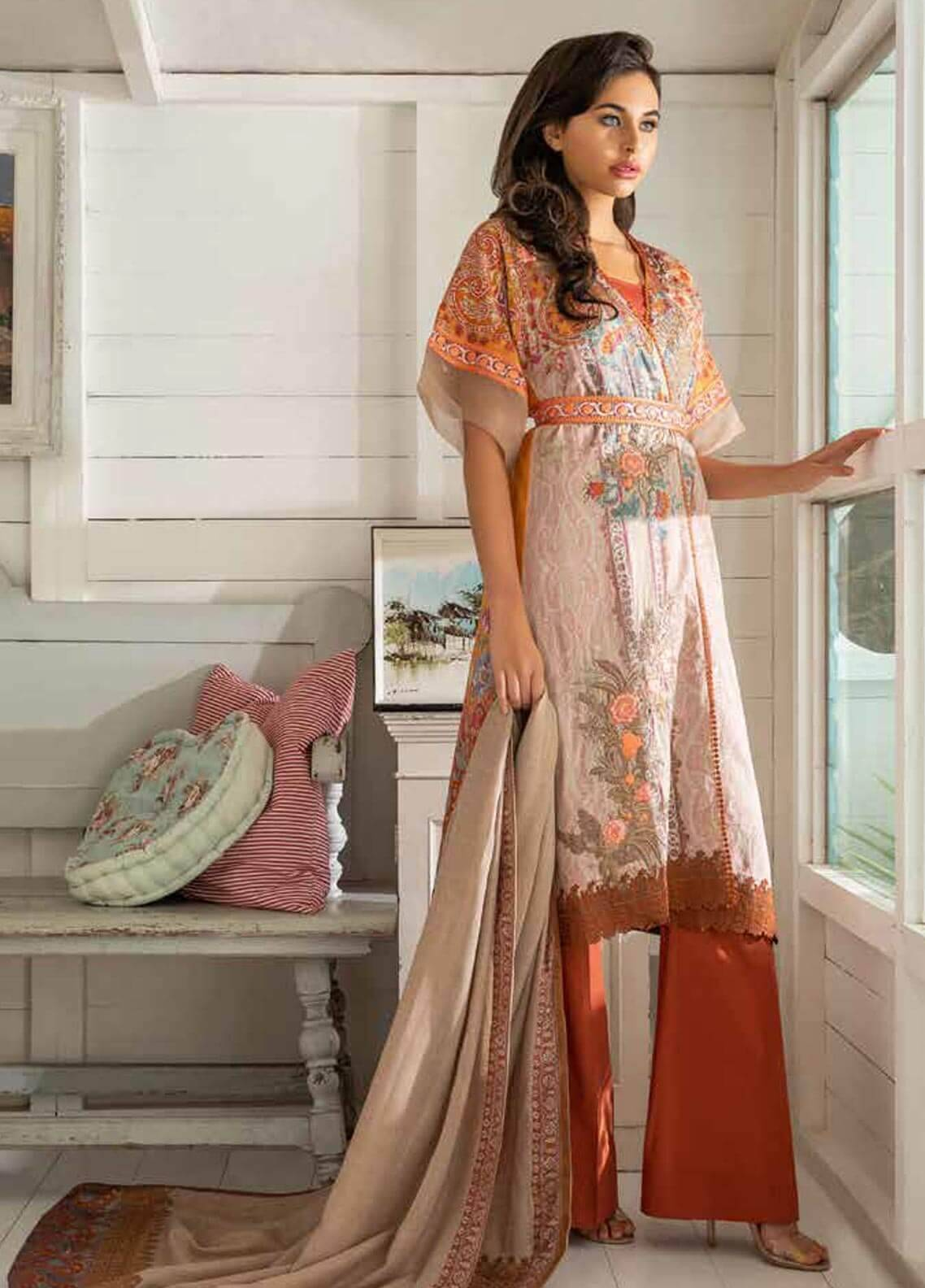 Sobia Nazir Embroidered Cotton Satin Unstitched 3 Piece Suit SN18W 5A - Winter Collection