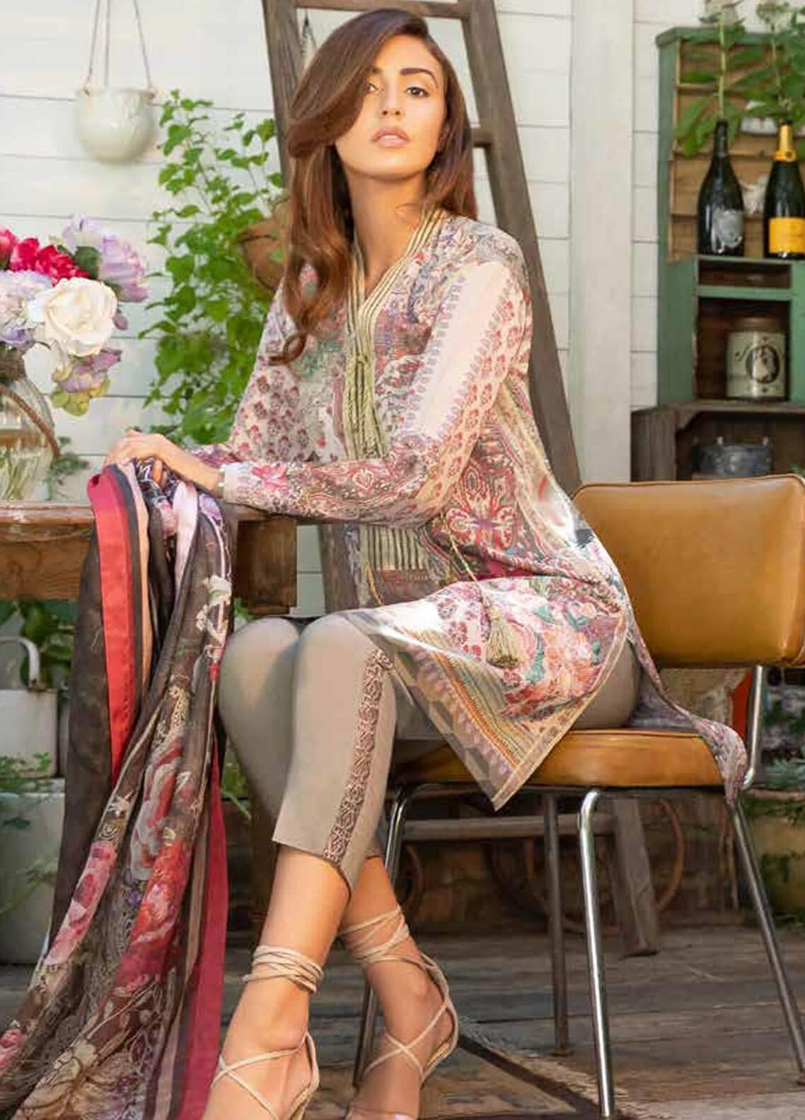 Sobia Nazir Embroidered Dobby Unstitched 3 Piece Suit SN18W 6A - Winter Collection