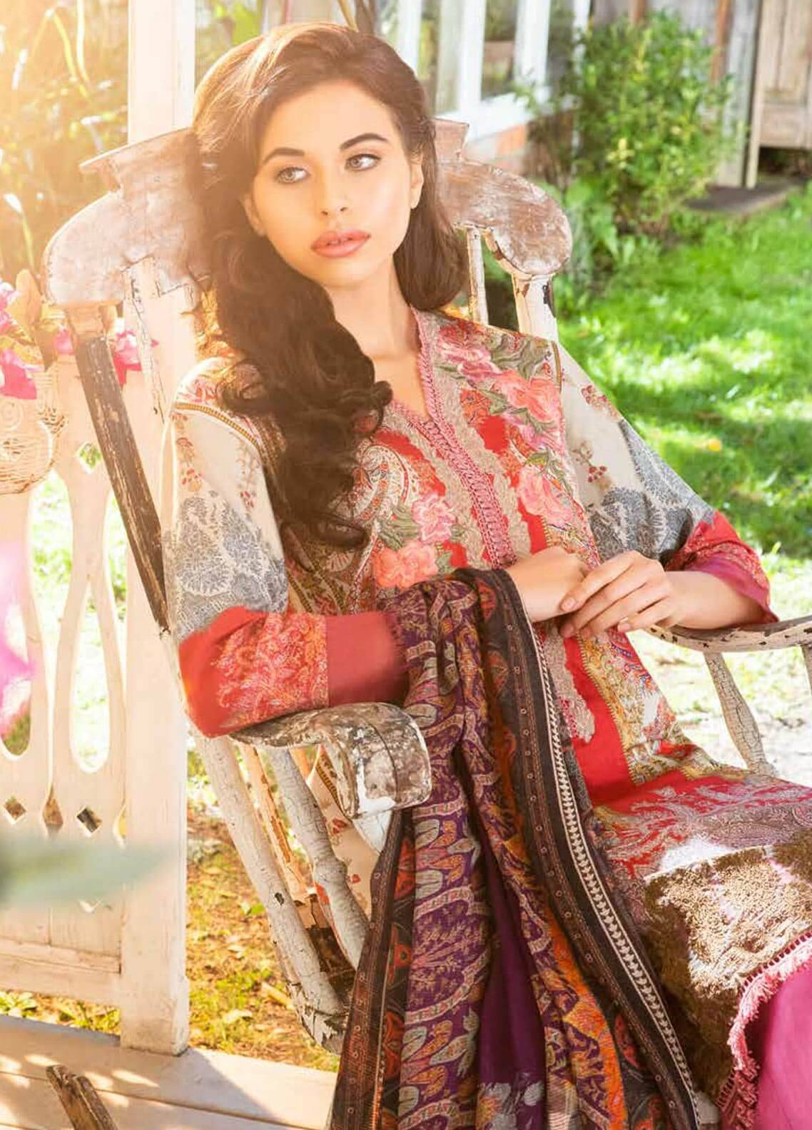 Sobia Nazir Embroidered Dobby Unstitched 3 Piece Suit SN18W 7A - Winter Collection