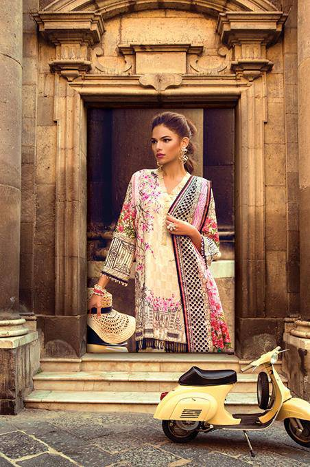 Sapphire Embroidered Lawn Unstitched 3 Piece Suit SP17L Giardino Amor A