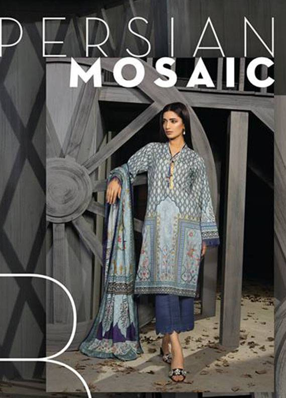 Sapphire Printed Unstitched 2 Piece Suit SP17W2 Persian Mosaic B
