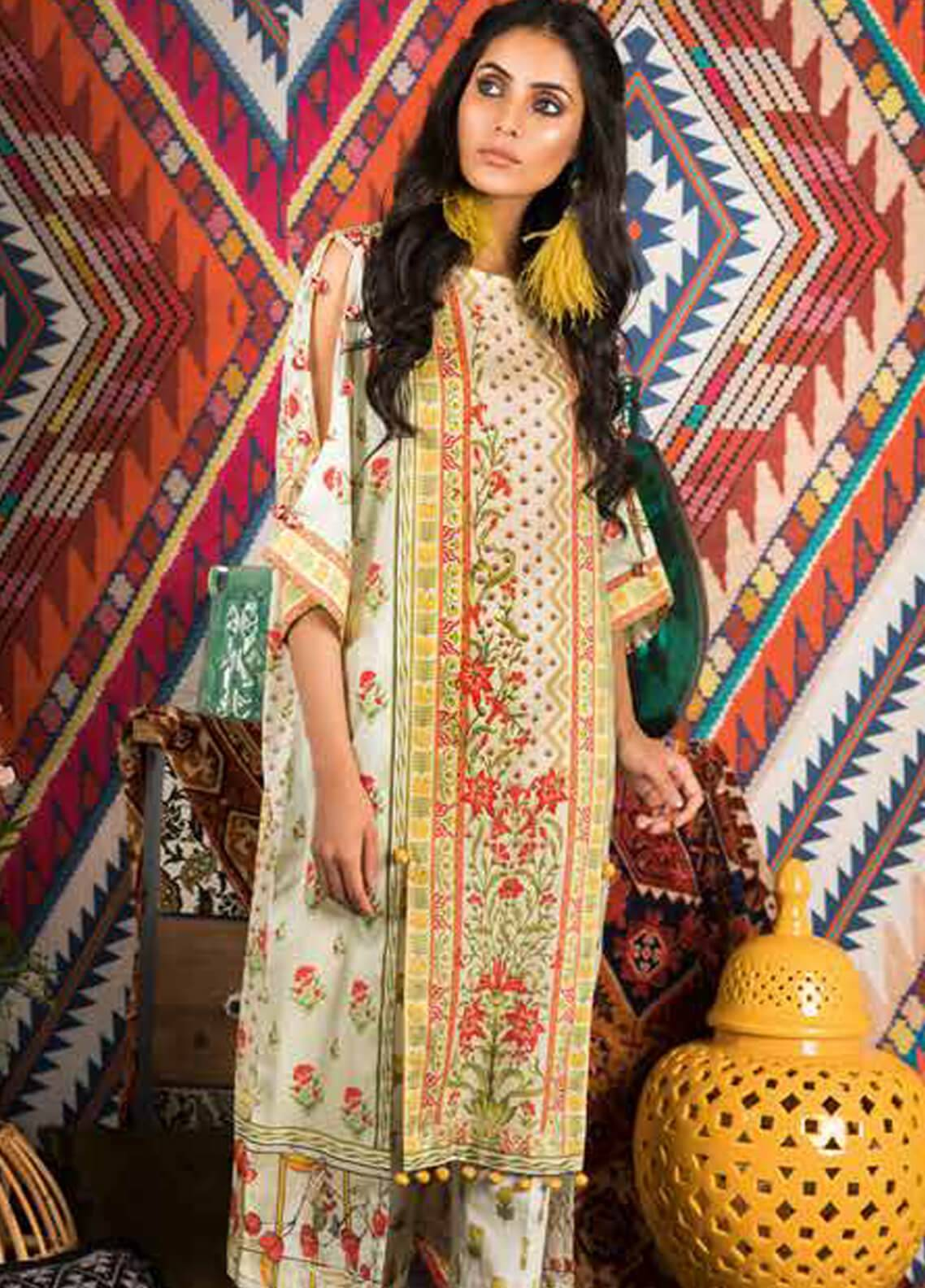 Sapphire Printed Cotton Unstitched 2 Piece Suit Midnight Garden A - Autumn - Fall Collection