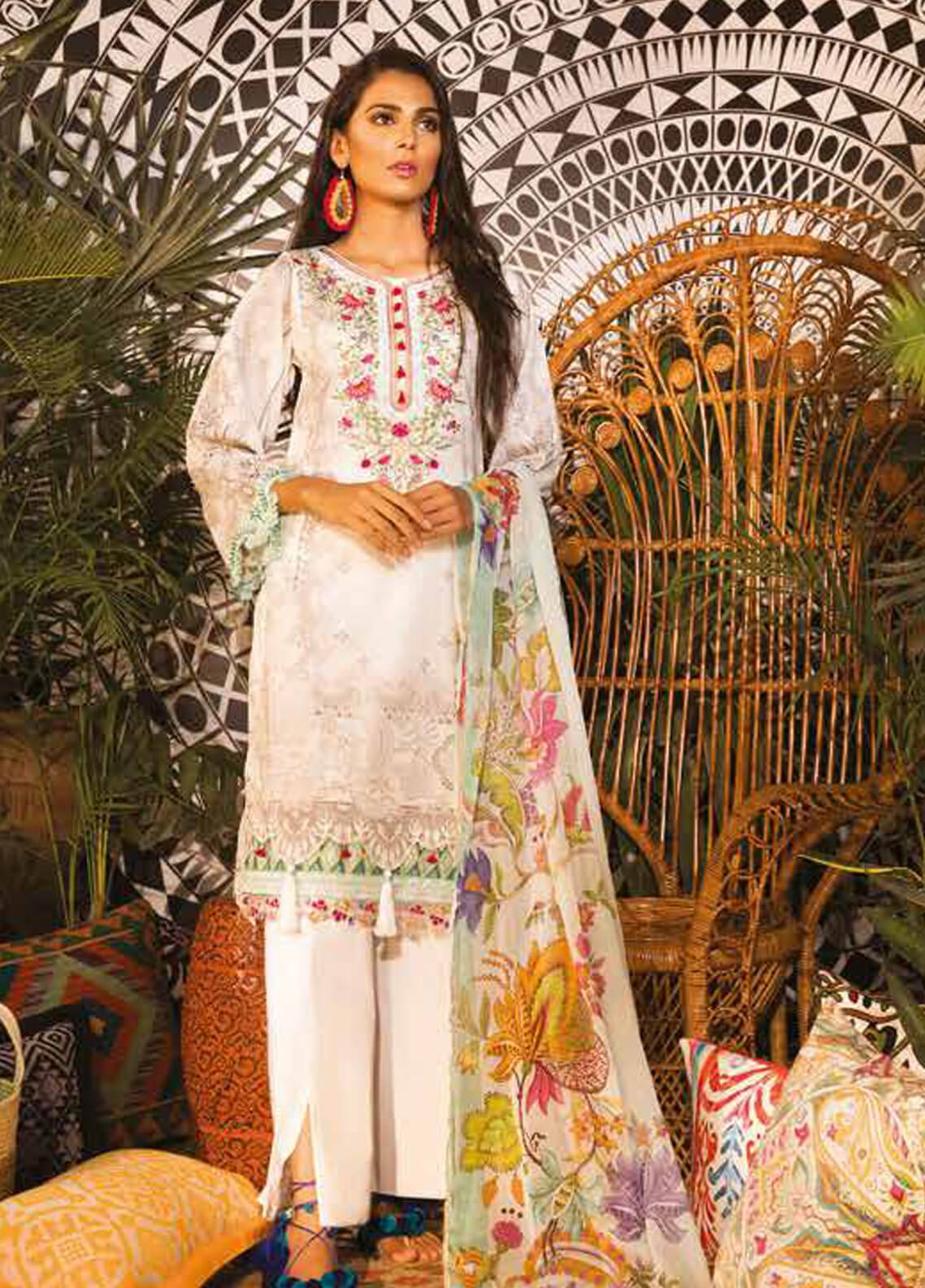 Sapphire Embroidered Cotton Unstitched 2 Piece Suit Native Persia  A - Autumn - Fall Collection