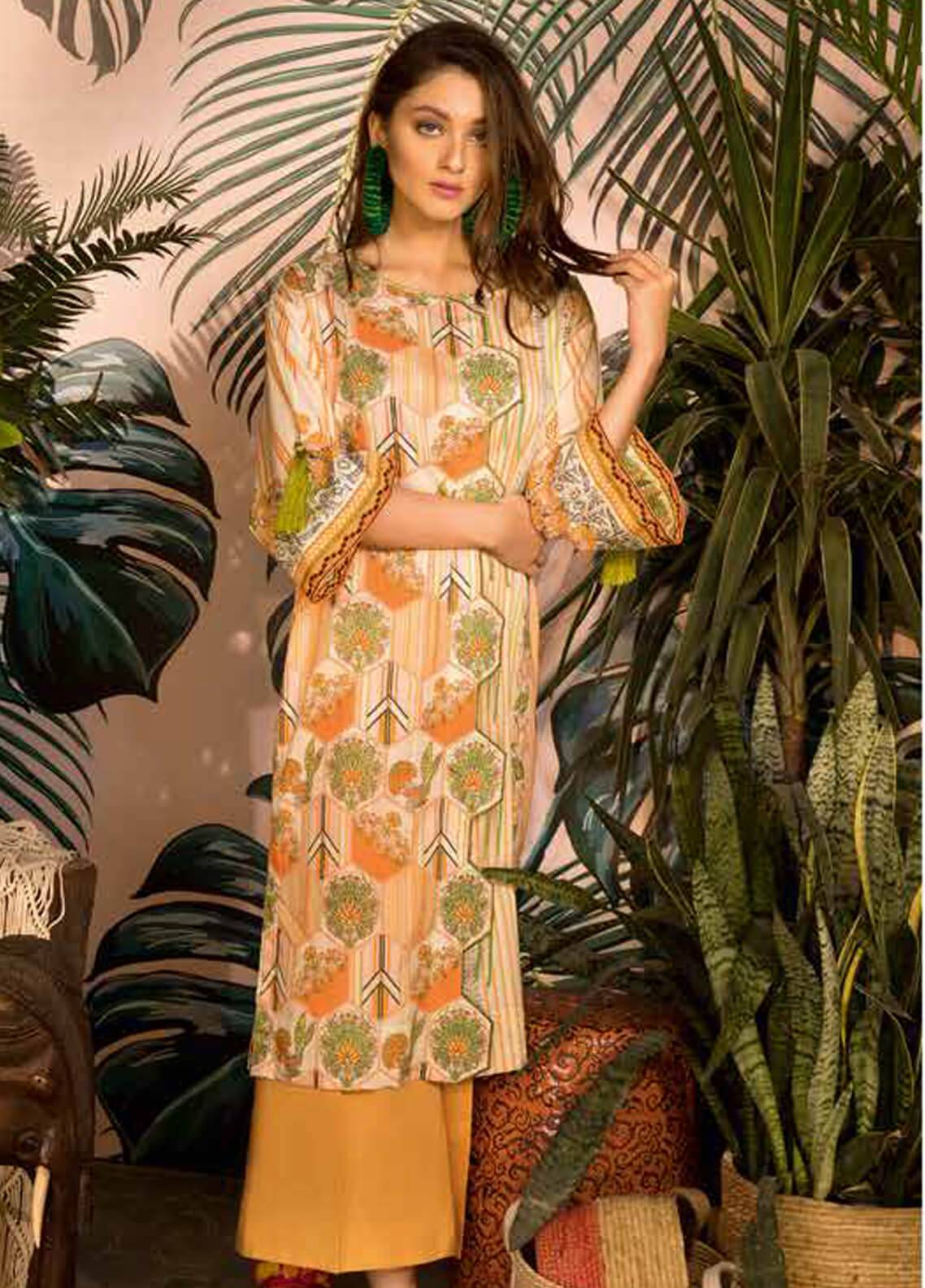 Sapphire Printed Cotton Unstitched 2 Piece Suit The Way A - Autumn - Fall Collection