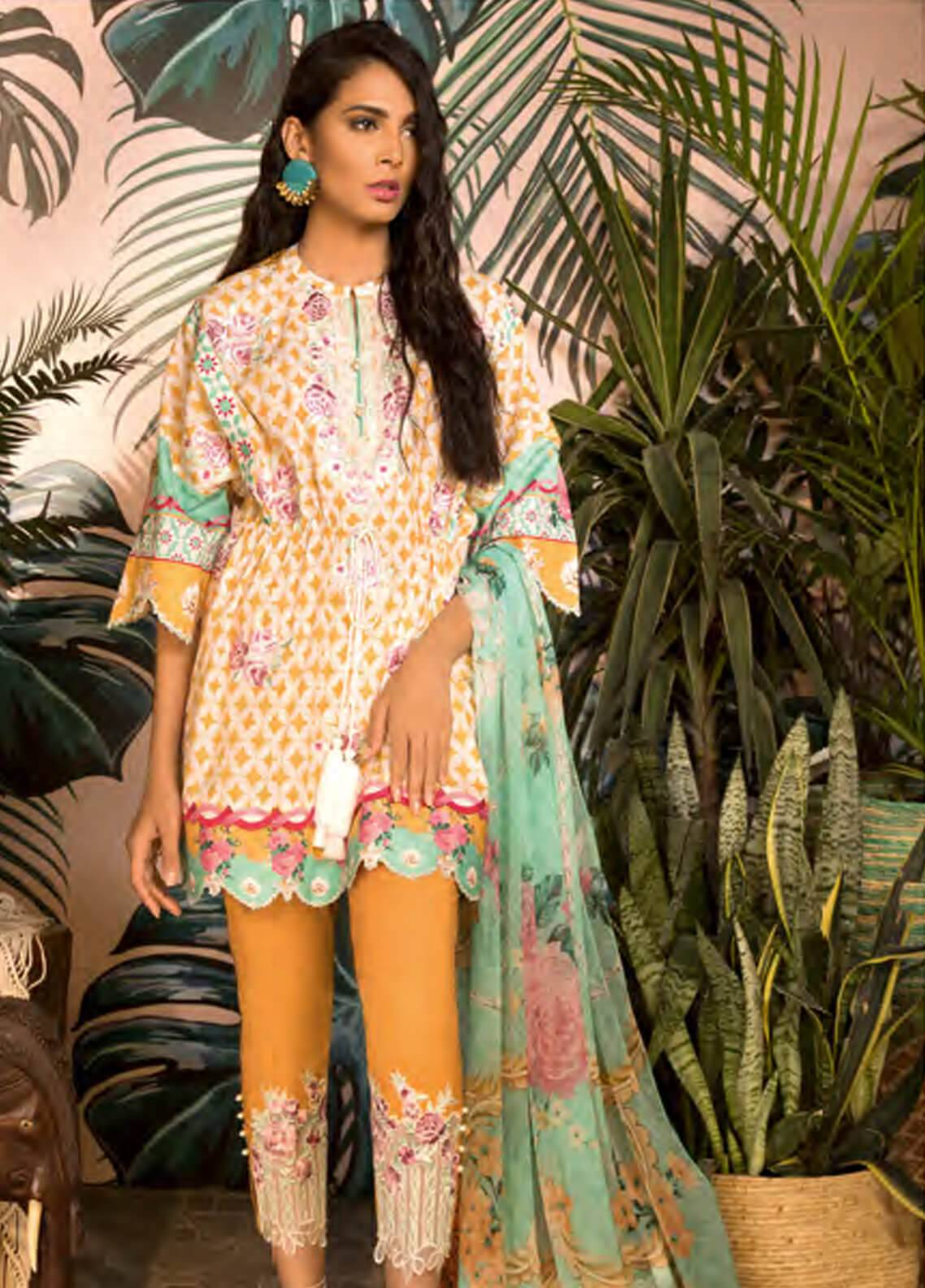 Sapphire Embroidered Jacquard Unstitched 3 Piece Suit Vintage Chic - Autumn - Fall Collection