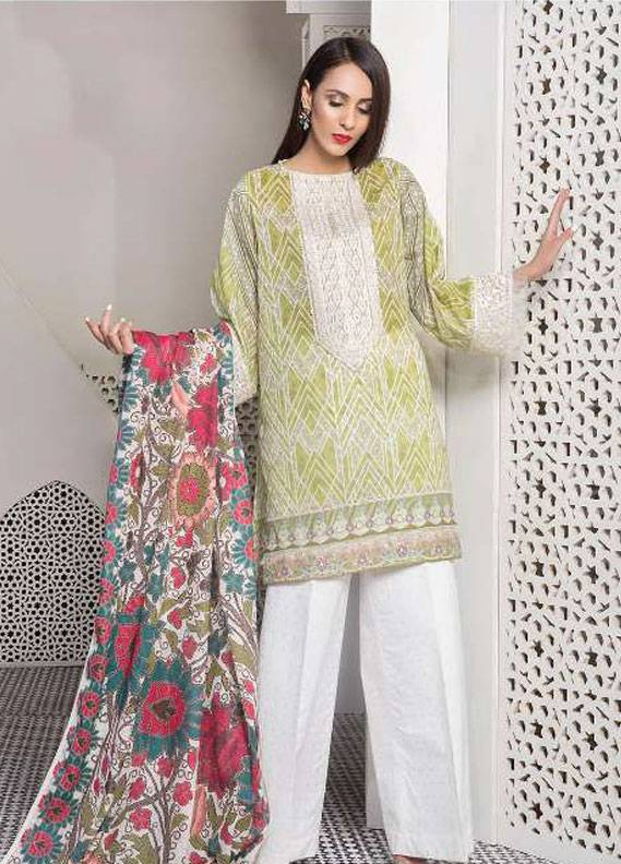3ab68d276a Sapphire Embroidered Lawn Unstitched 3 Piece Suit SP18L TANKA A - Spring / Summer  Collection