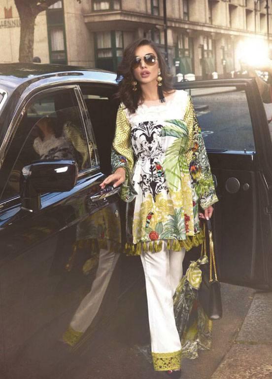 Saira Rizwan Embroidered Chiffon Unstitched 3 Piece Suit SR17E 10