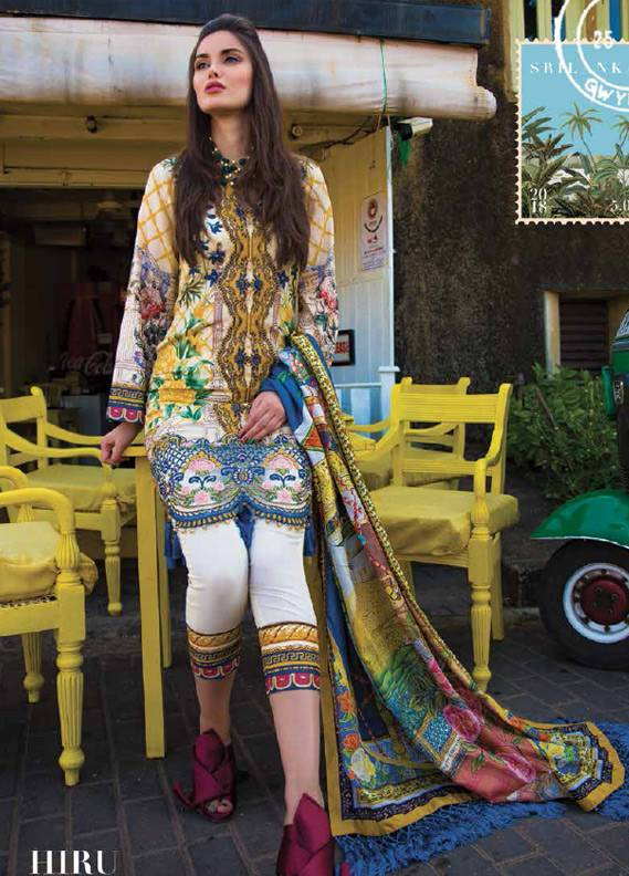 Saira Rizwan Embroidered Lawn Unstitched 3 Piece Suit SR18L 10 - Spring / Summer Collection